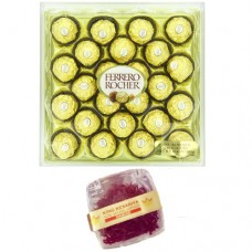 24 Ferrero Rocher and 1 Gram Diamond Saffron