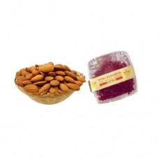 250 gram Kashmiri Almond and 1 Gram Diamond Saffron