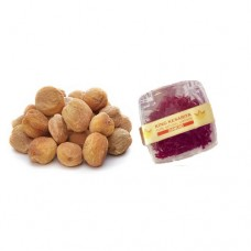 200 gram Kashmiri Apricot (Jardalu or Khubani) and 1 Gram Diamond Saffron