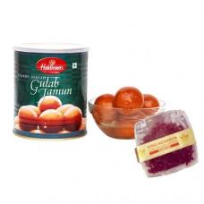 500 gram (1/2kg) Haldiram Gulab Jamun and 1 Gram Diamond Saffron