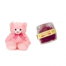 Small Pink Teddy bear and 1 Gram Diamond Saffron
