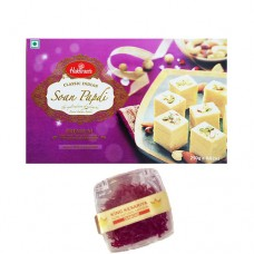 500 gram (1/2kg) Soan Papdi and 1 Gram Diamond Saffron